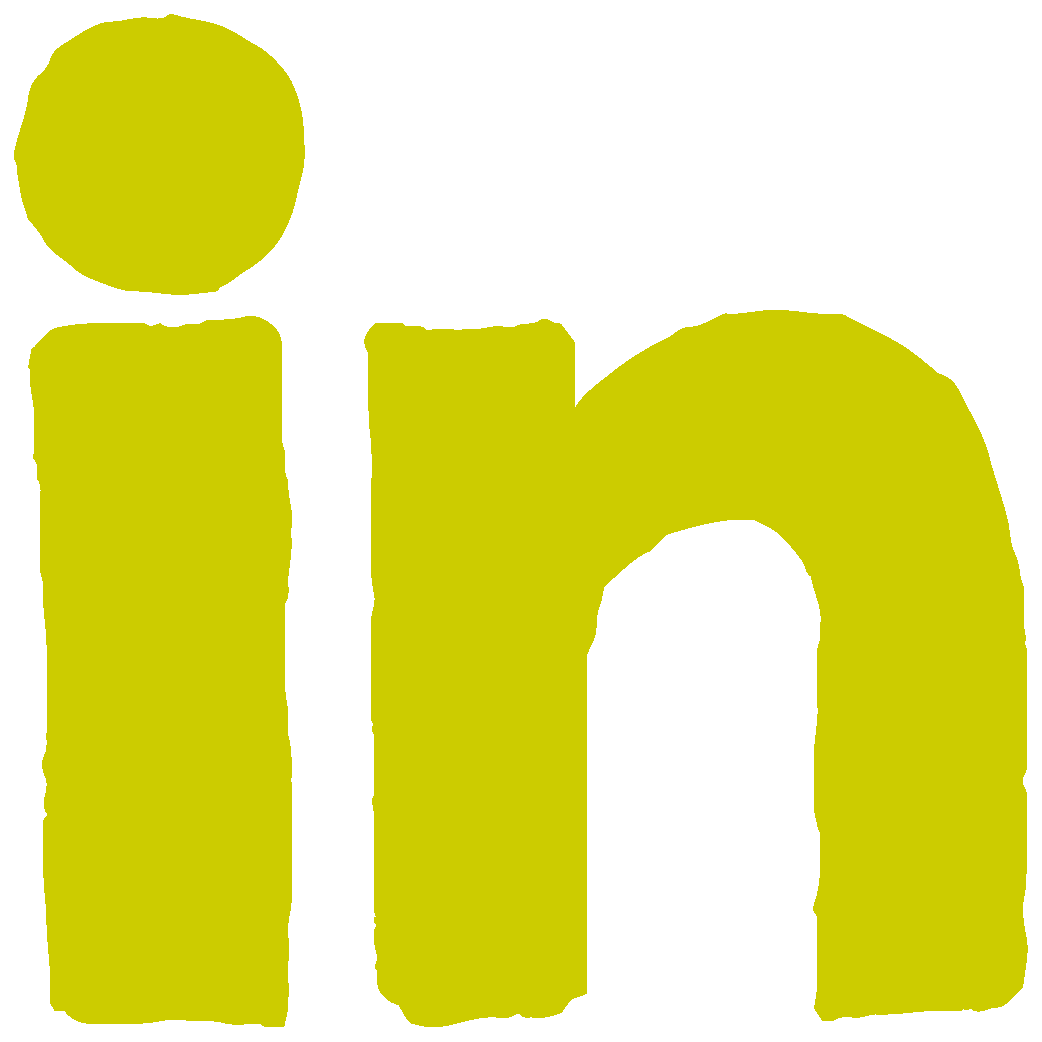 Linkedin icon yellow